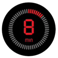 Graphic: Count-down clock for 8 minutes