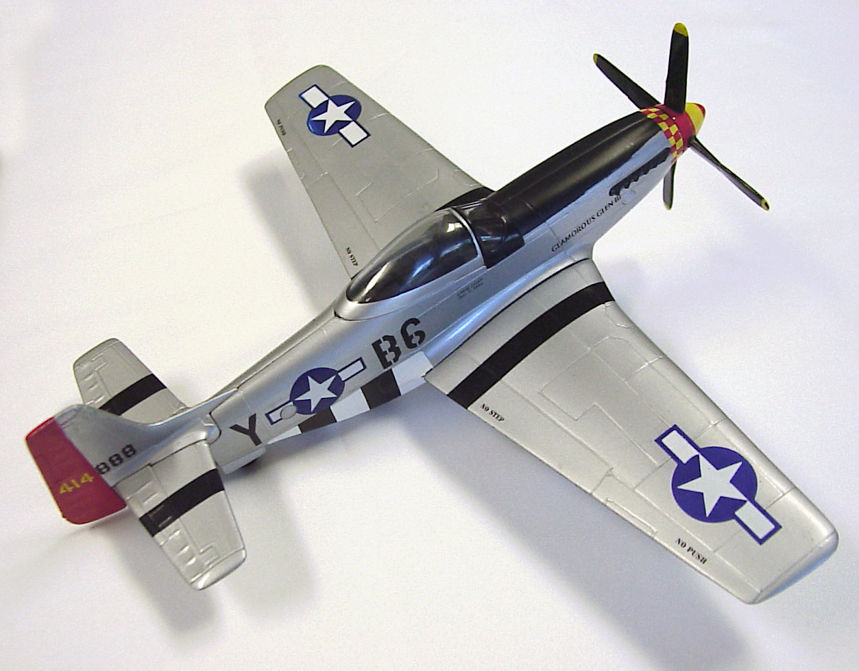 Photo: P-51d model with extra graphic added